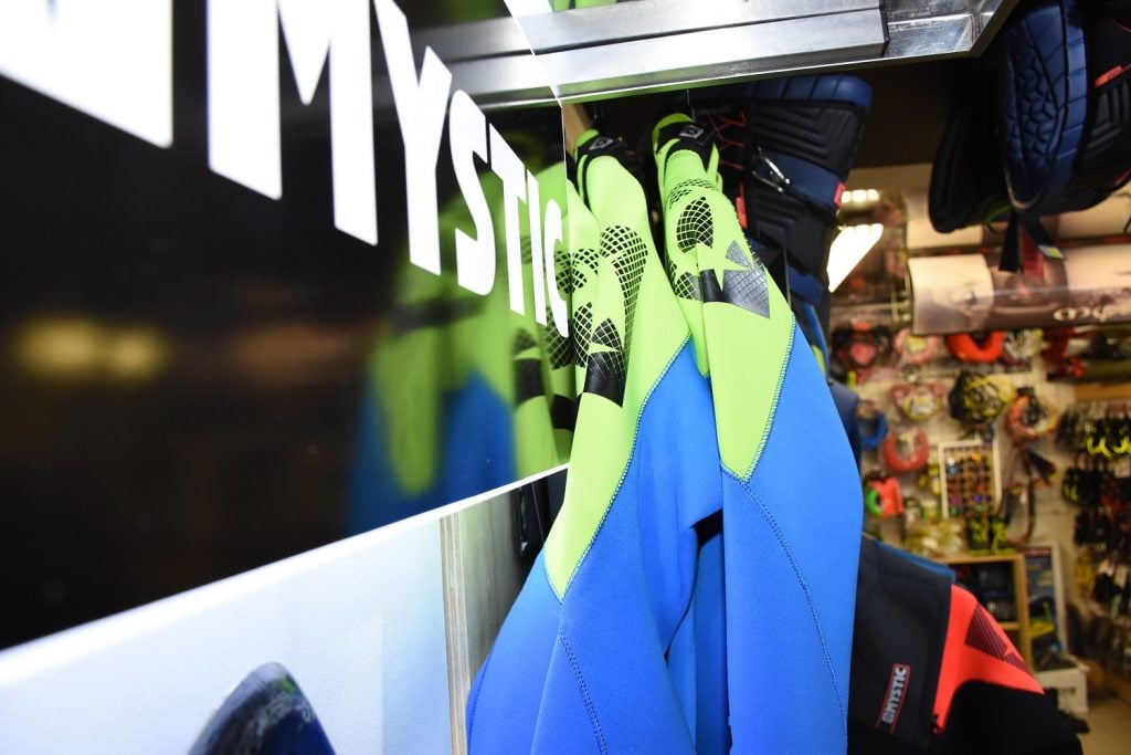 mystic wetsuits, manera wetsuits, f-one kites