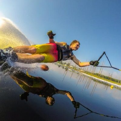 Waterskiing in Cape Town, South Africa